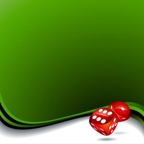 Vector background con due dadi rossi per un tema di casinò.