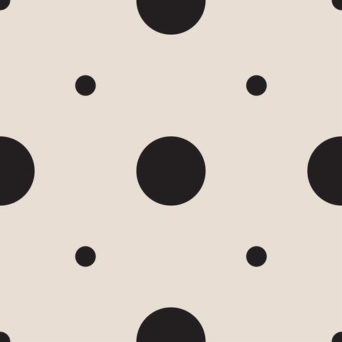 sömlösa mönster med vita och svarta ärter (polka dot).
