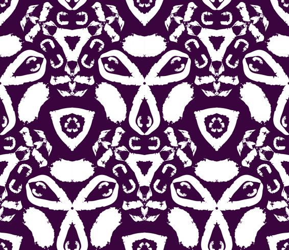 Hand drawn painted seamless pattern.