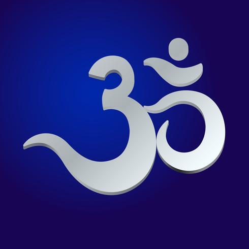 Om o Aum sonido sagrado indio, mantra original, una palabra de poder.