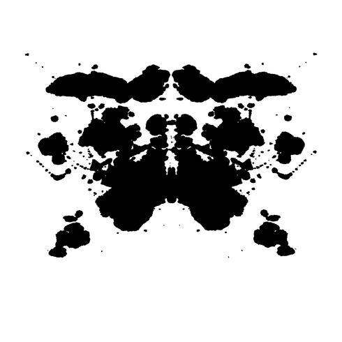 Inkblot di Rorschach prova sfondo astratto casuale