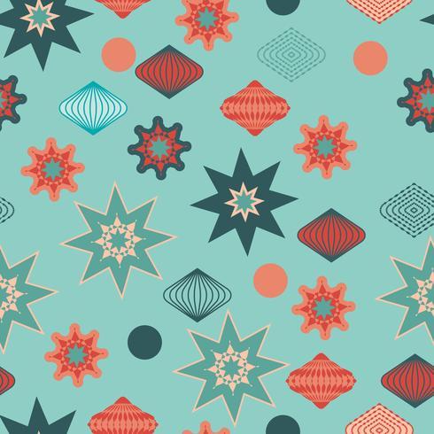Retro christmas decorations, seamless pattern