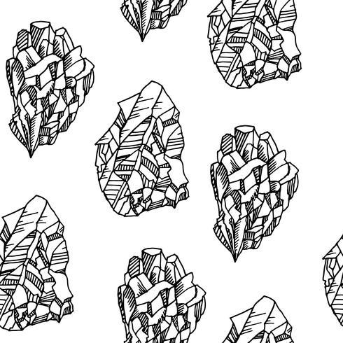 Sem costura padrão preto e branco com cristais