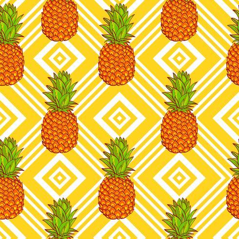 Fond d'ananas tropical