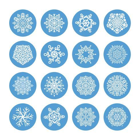 Set invernale di fiocchi di neve