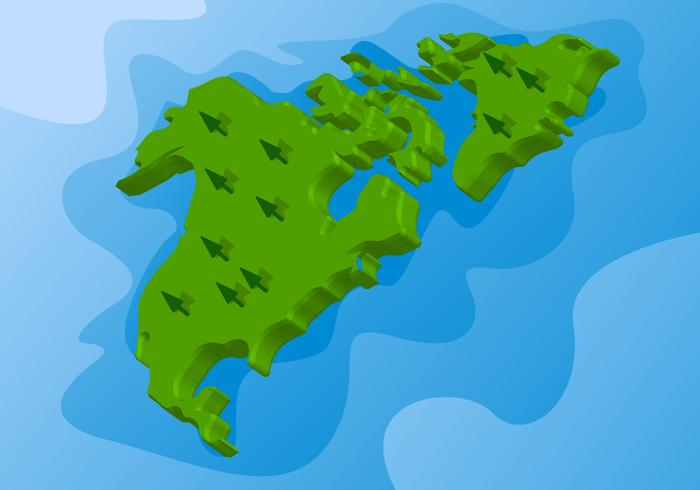 Awesome 3d International Map Vectors