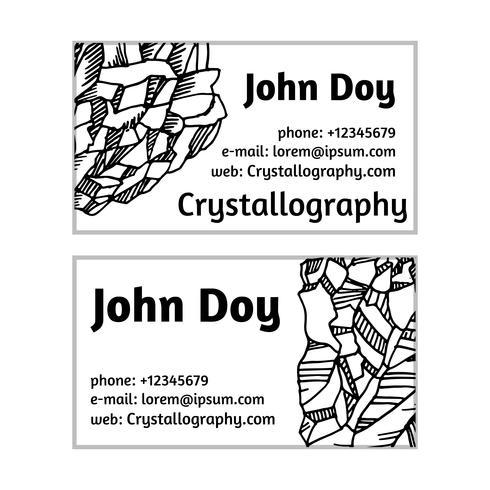 cartões de visita em cristalografia