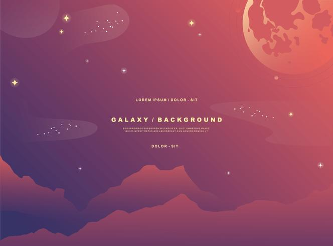Galaxy Beckground Vector