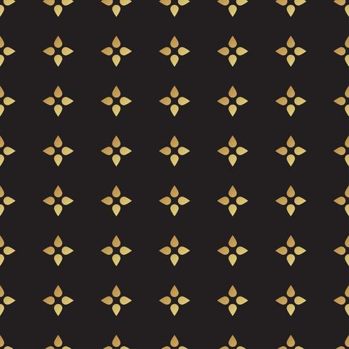 Modèle sans couture noir et or universel, carrelage.