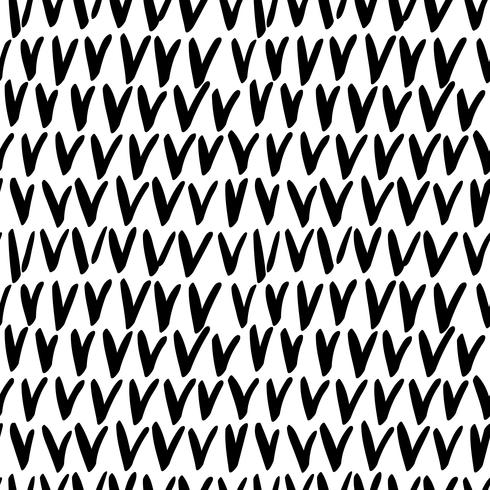 Seamless stylish hand drawn pattern.  vector