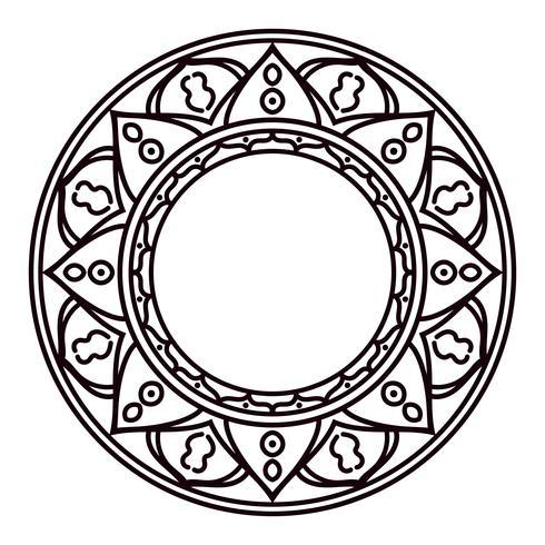 Mandala's. Etnische decoratieve elementen in een cirkel.