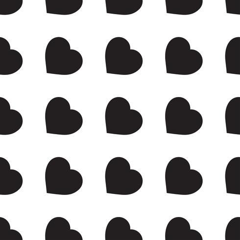 Monocromo de patrones sin fisuras con corazones vector