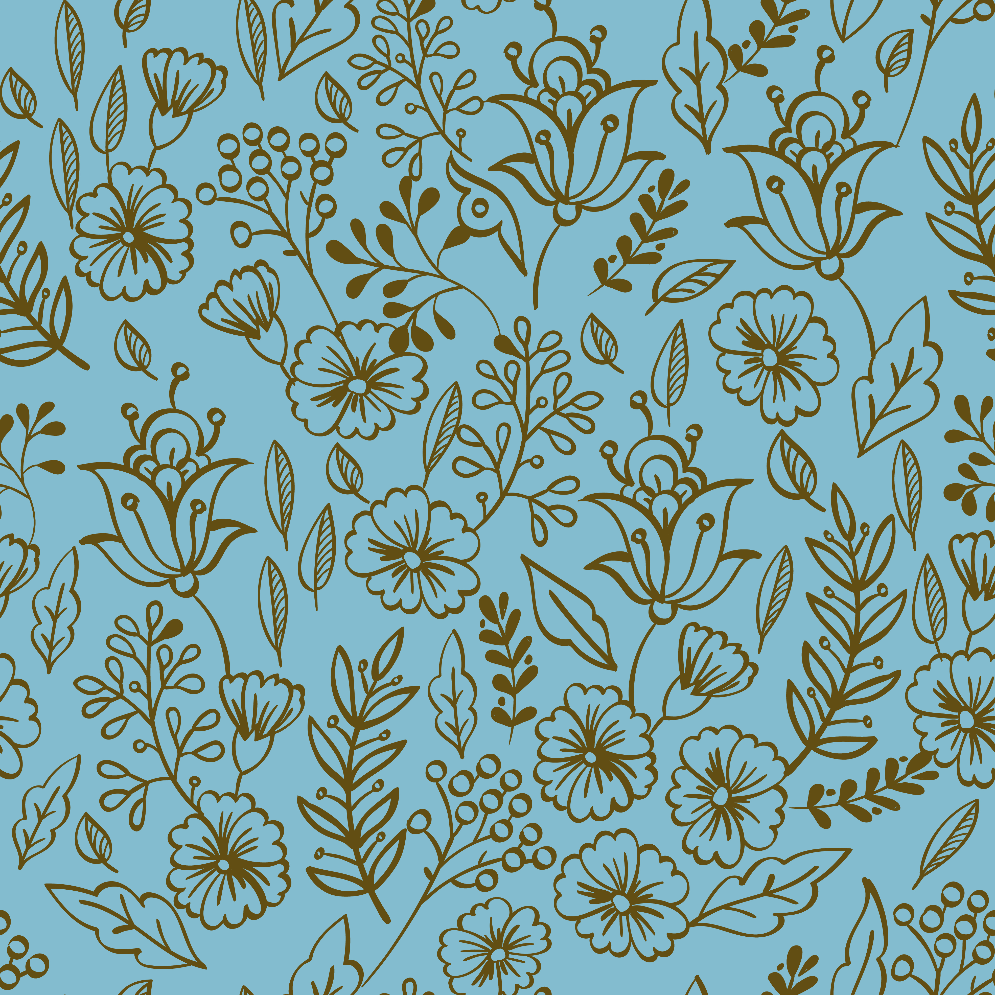 Vintage Floral Seamless Pattern Download Free Vectors Clipart