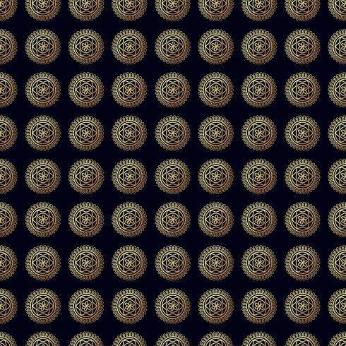 Flor de oro de patrones sin fisuras. vector