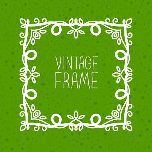 línea mono marco vintage