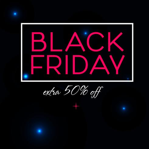 Design del poster di vendita del Black Friday vettore
