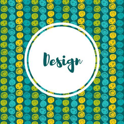 Hintergründe in Blau und Grün. Hand gezeichneter Stil