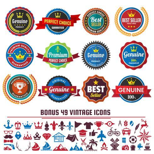 Weinlese-Retro- Vektor-Logo für Fahne