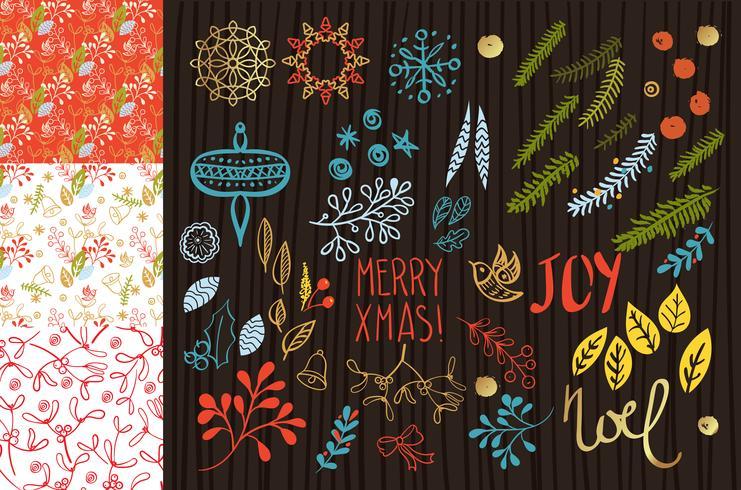 Feliz navidad set vector