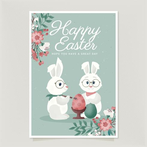 Vector Easter Card Template - Download Free Vector Art, Stock Graphics & Images