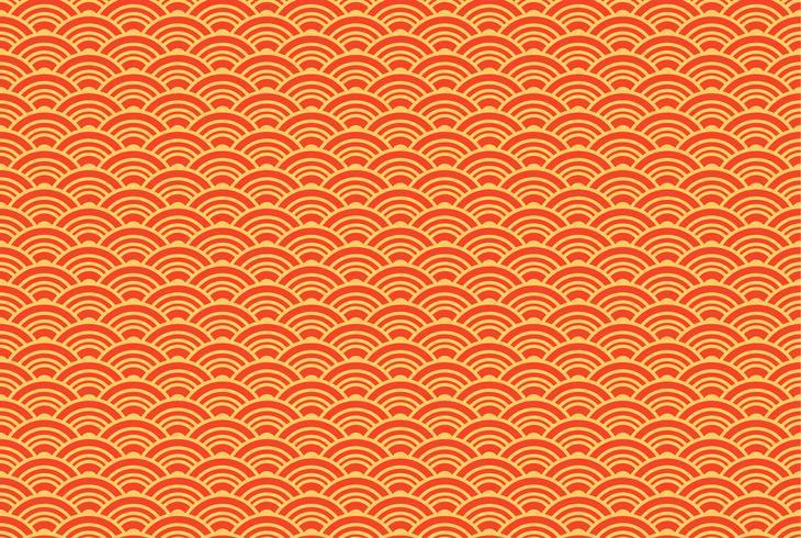 Seigaiha oriental de patrones sin fisuras. Fondo de la vendimia vector
