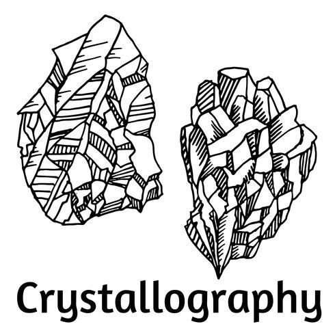 svarta och vita kristaller