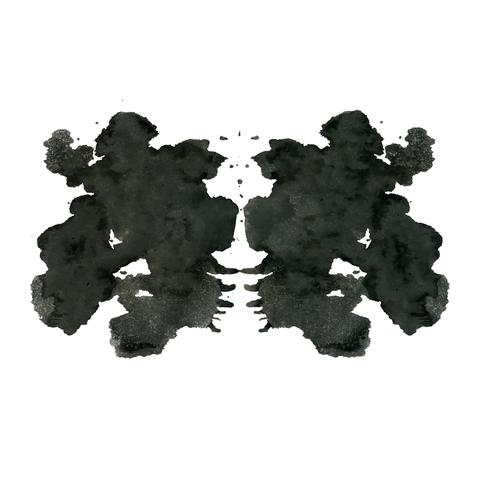 Rorschach inkblot test random abstract background