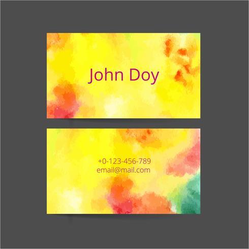 Conjunto de dois cartões de visita criativos