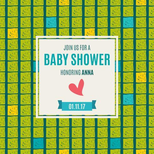 Baby shower uitnodiging kaart groene flits kleur.