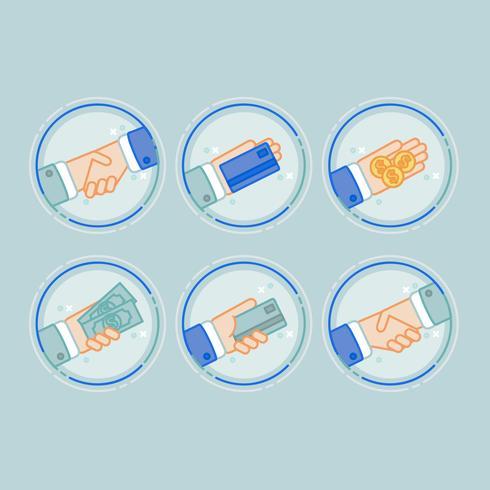 Vektor-Zahlungs-Icons