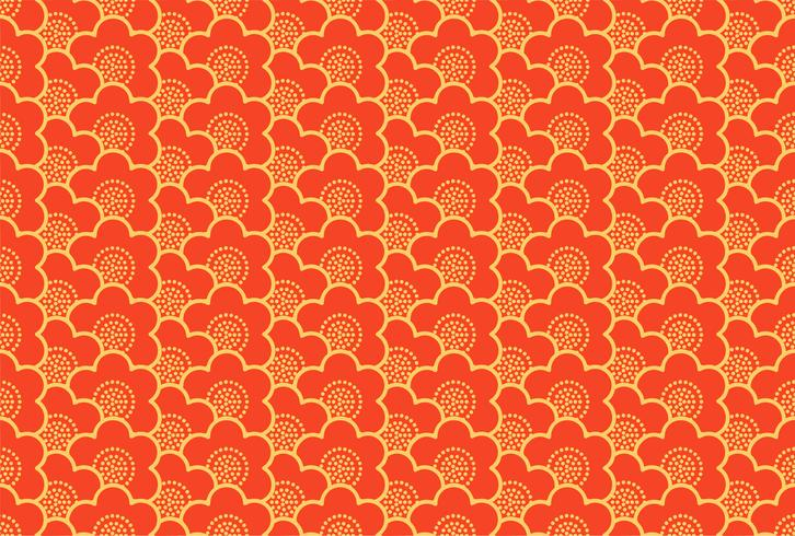 Japanese ornament with sakura flowers  seamless pattern