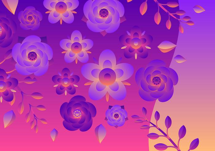 Blume Clipart Vektor festgelegt