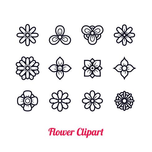 Flor clipart vector