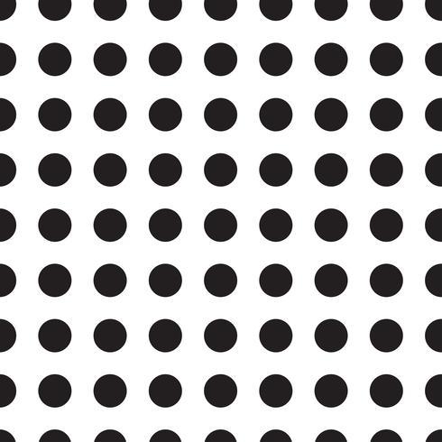 Patrones sin costuras con guisantes blancos y negros (lunares). vector