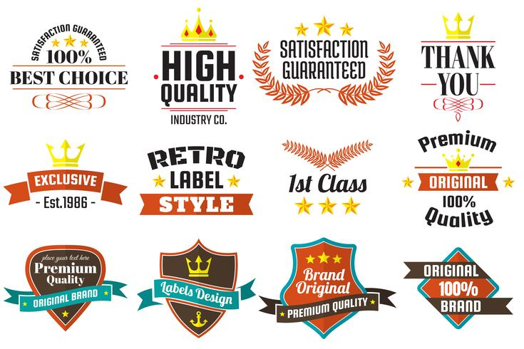 Vintage Retro Vector Etiketter för banner