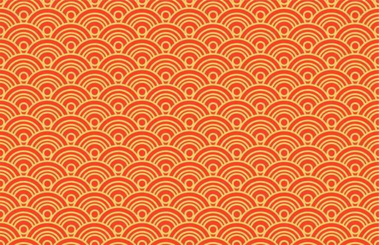 Seigaiha oriental de patrones sin fisuras. Fondo de la vendimia