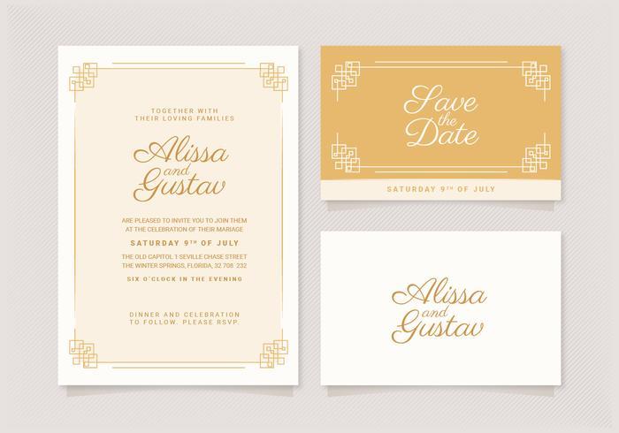 Vector Elegant Wedding Invitation