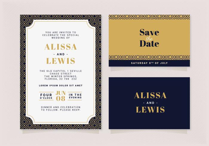 Vektor elegante Hochzeitseinladung