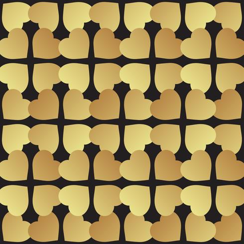 Universal  black and gold seamless pattern tiling.  vector