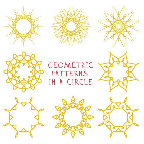 Ronde geometrische ornamenten vector
