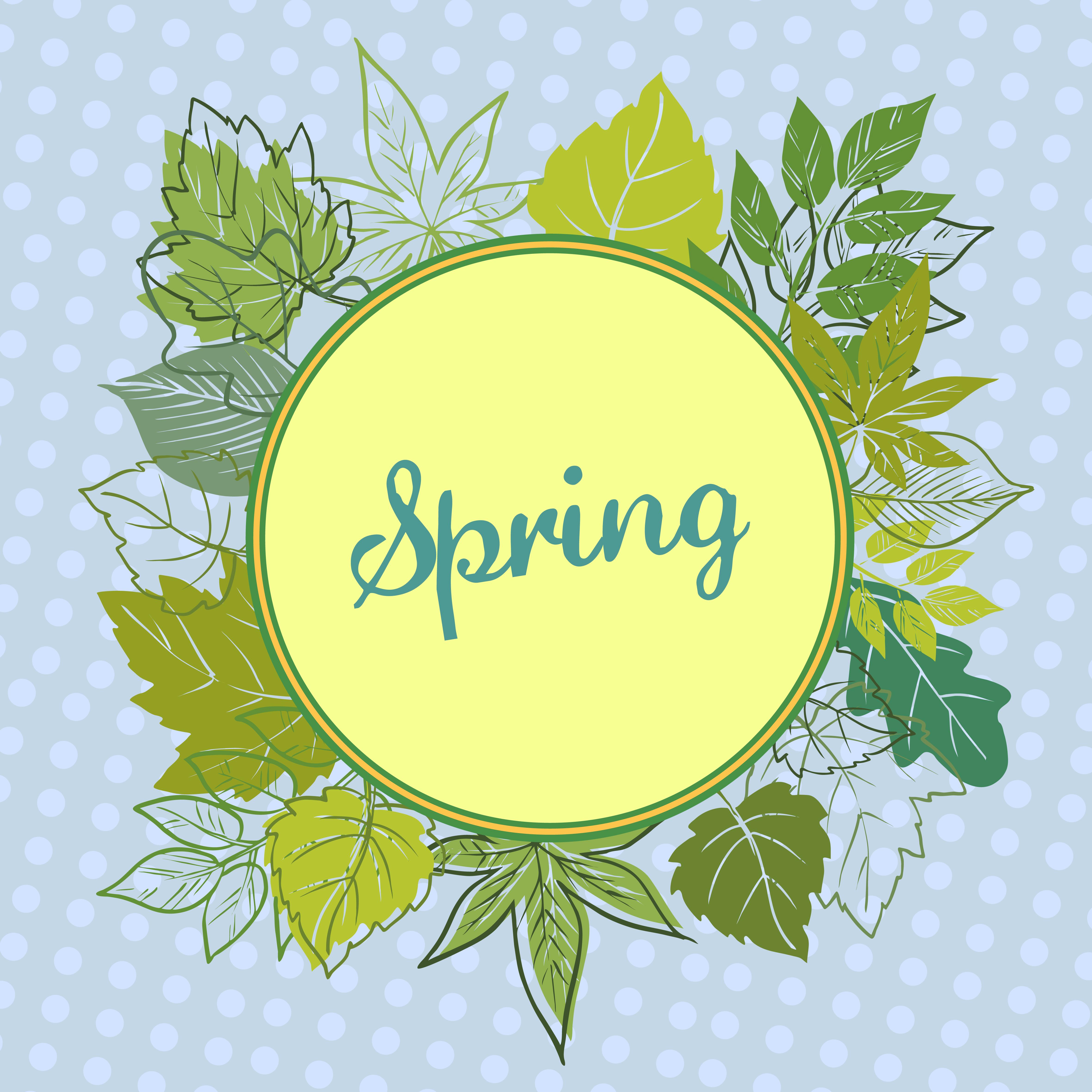 Frame Of Spring Leaves 347687