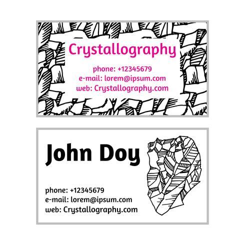 Tarjetas de visita en cristalografía.