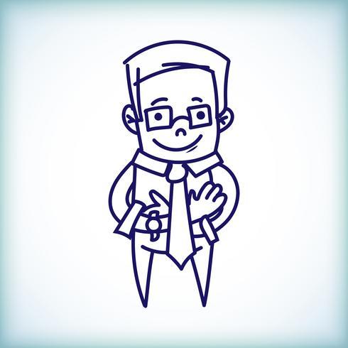 Cartoon Geschäftsmann