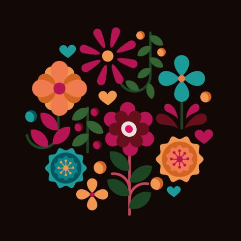 Vetor de clipart de flor