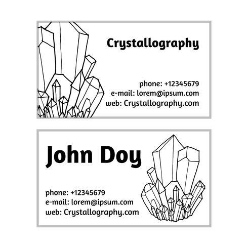 biglietti da visita in cristallografia