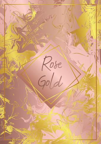 Marble Rose Gold Vector Design