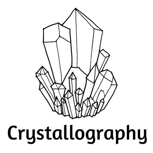 cristales blancos y negros vector