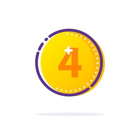 Gold Coin Icon.