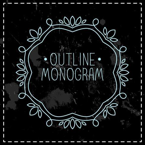 vintage frame monolijn