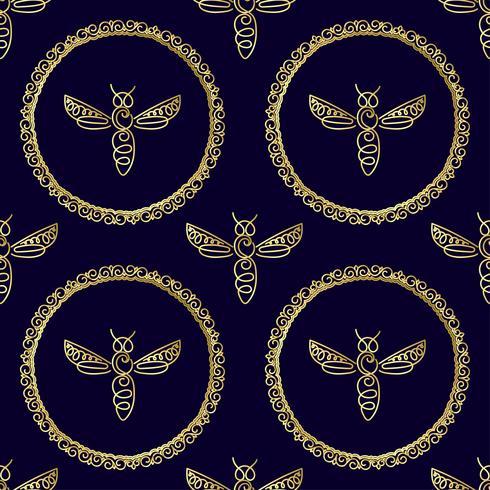 Seamless mönster med Bee